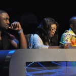 Nigerian Idol 5 Judges- Darey, Yinka and Dede paying close    attention to the performances by contestants