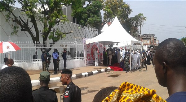 Tight security at coronation of Oba of Benin